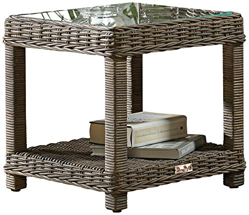 The Sunroom (Panama Jack Sunrooms Exuma End Table with Glass)