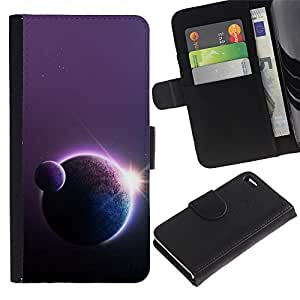 Ihec-Tech / Flip PU Cuero Cover Case para Apple Iphone 4 / 4S - Space Planet Galaxy Stars 18