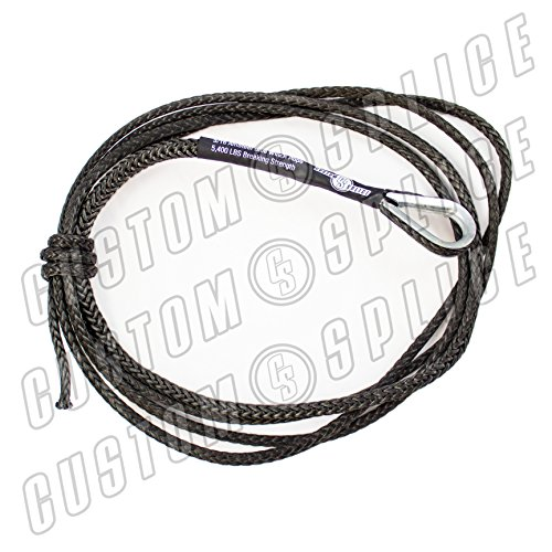 10' ATV Charcoal AmSteel Blue 3/16 Winch Rope Snow ()