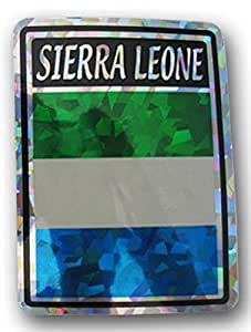 Albatros 6 pack sierra leone country flag reflective decal bumper sticker for for Country garden 6 pack