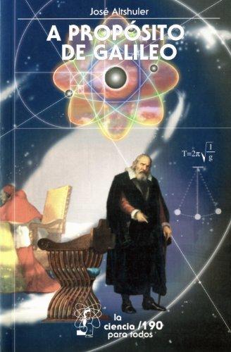 Portada del libro A propósito de Galileo de José Altshuler