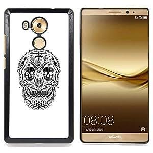 - White Black Skull Cross Christian Death - - Snap-On Rugged Hard Cover Case Funny HouseFOR Huawei Mate 8