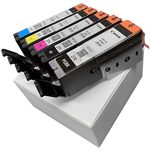 Canon PGI-270 and CLI-271 New Ink Cartridges in Non Retail Packaging (Pack of 5)