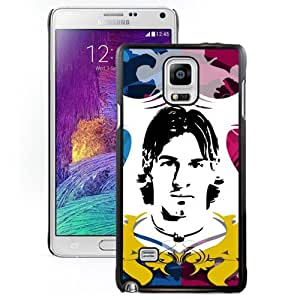 Unique DIY Designed Case For Samsung Galaxy Note 4 N910A N910T N910P N910V N910R4 With Soccer Player Lionel Messi 37 Cell Phone Case