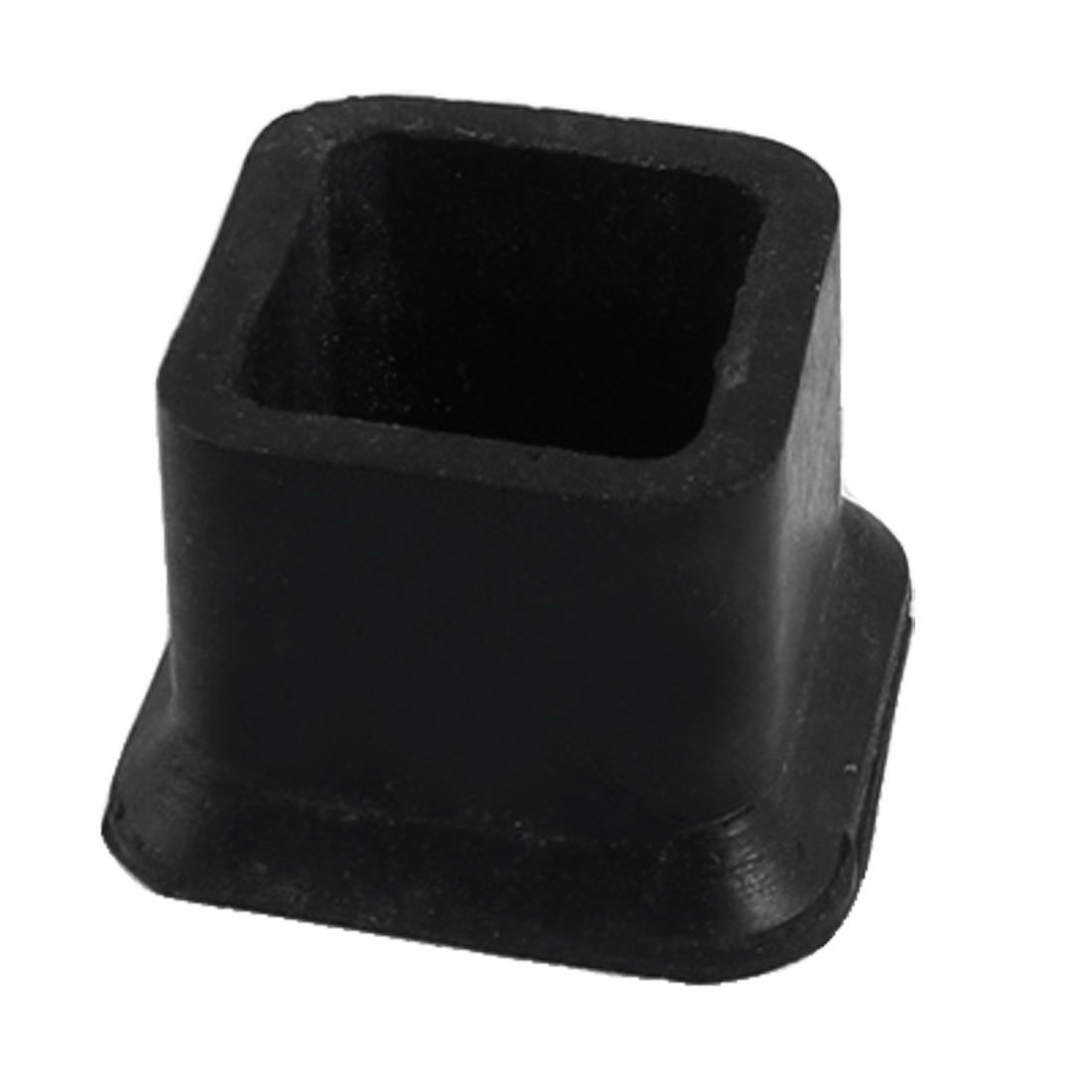 Flyshop Square Anti-Slip Rubber Leg Tips Covers Furniture Protectors 0.98 Inch x 0.98 Inch Black 10Pcs