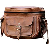 LUST Leather Big Camera DSLR Padded Digital Camera Bag for With Lens Partition