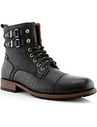 Mitch MPX808576 Mens Casual Cap Toe Boot Motorcycle Zipper Boots Men