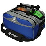 Pyramid Path Double Tote Plus Clear Top Bowling Bag (Royal Blue/Silver)