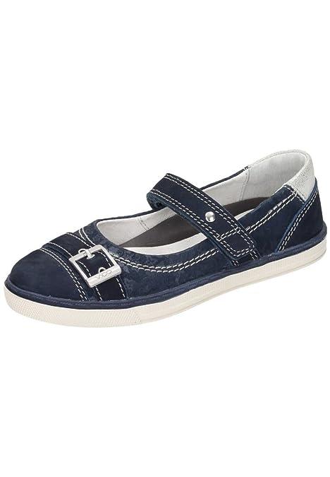 Vado Vado Mädchen Ballerina - Mocasines de Piel para niña Azul Azul: Amazon.es: Zapatos y complementos
