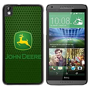 HTC Desire 816 John Deere Logo Black Screen Phone Case Unique and Custom Design