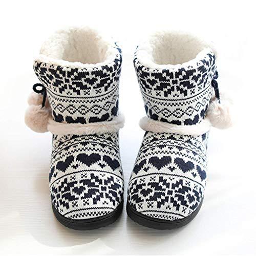 Peluche Morbido Pantofola Antiscivolo Casa Inverno Stivaletto A Pantofole Aonegold Blu Donna Caldo wqS4nZB