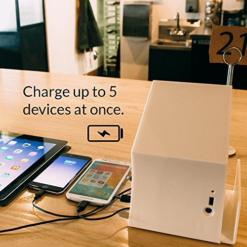ChargeTech - Battery-Powered Portable Cell Phone Charging Station Dock w/ 5 Universal Charging Tips Included for Multiple Devices: iPhone, iPad, Samsung Galaxy, Tablet (Model: PCS5) [Black] by ChargeTech (Image #6)