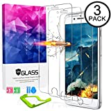 [3packs] Ultra Clear iPhone 8plus Screen Protector Tempered Glass, HDTOP Scratch Proof iPhone 7 plus Screen Protector,High Definition Tempered Glass for iPhone 8plus / 7plus