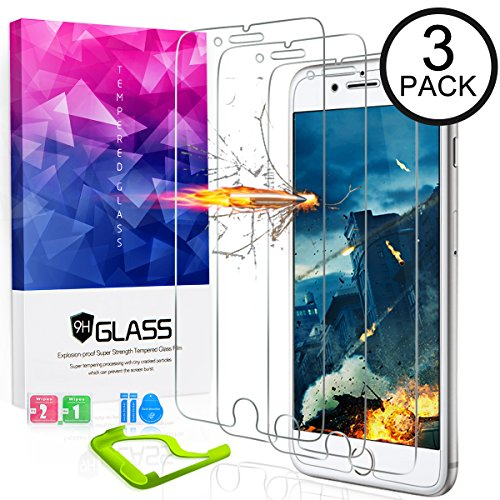 [3packs] Ultra Clear iPhone 8plus Screen Protector Tempered Glass, HDTOP Scratch Proof iPhone 7 Plus Screen Protector,High Definition Tempered Glass iPhone 8plus / 7plus