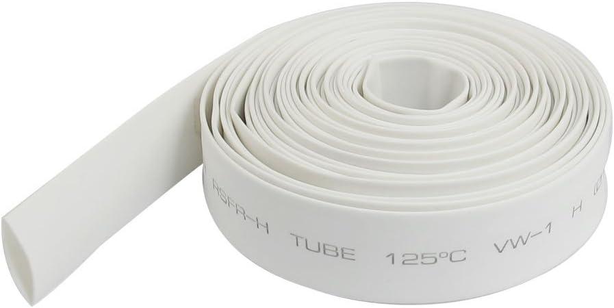 1 10mm Dia Tubo termoretractil Blanco de Poliolefina 4M de Longitud Basage Proporcion 2