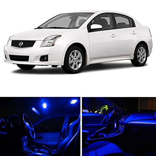 entra 2007-2012 Blue Premium LED Interior Lights Package Kit (6 Pieces) ()