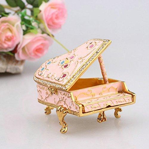 (Handmade Piano Shape Jewelry Box Europe Type Style Piano Trinket Jewelry Box)