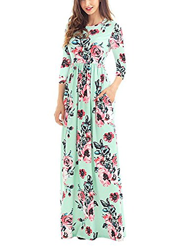 b68583a22f New Dress : Buy Shoes Online Now | Women's Shoes, Bags & Apparel Dearlovers  Women Floral Print Round Neck 3/4 Sleeve Casual Maxi Dress With Pockets  Green
