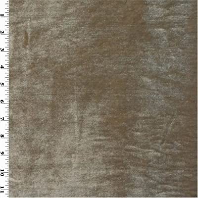 Taupe Beige Vintage Silk Velvet Home Decorating Fabric, Fabric By the Yard