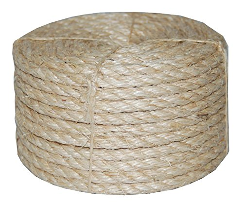 Twisted Sisal Rope T.W . Evans Cordage 23-410 3/8-Inch by 100-Feet (Decorative Deck Fringe)