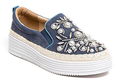 Fransk Blu Kvinners Perlemor Pearled Sneaker Blå