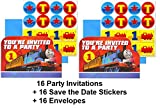 Amsc Thomas and Friends Party Invitations Invite Birthday Decoration Supplies (16-Pieces)