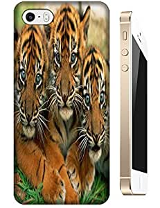 Tiger Case Cover Hard Back Cases Beautiful Nice Cute Animal hot selling cell phone cases for Apple Accessories iPhone 4/4S # 9