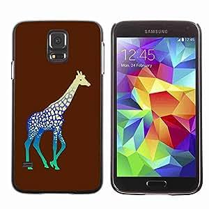 Planetar® ( Neon Giraffe ) Fundas Cover Cubre Hard Case Cover Samsung Galaxy S5 V SM-G900
