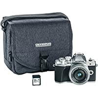 Olympus OM-D E-M10 Mark III camera kit with 14-42mm EZ lens (silver), Camera Bag & Memory Card , Wi-Fi enabled, 4K video