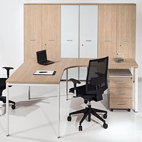 Fumu Scrivania Ufficio Angolare Workstation 160/120x80/60 piano ...