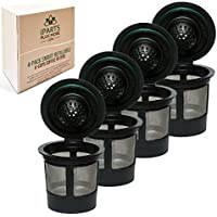 4 Reusable Single K-Cup Solo Filter Pod Coffee Stainless...