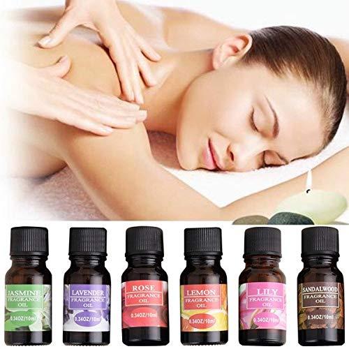 Jinjin Aromatherapy Essential Oils Gift,5 Bottles/ 10ml Each, (Lily, green tea, jasmine, cherry blossom, vanilla) (A) by Jinjin (Image #4)