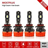 Best Headlight Bulb For Honda Odyssey 2008s - MOSTPLUS 8000 Lumens 80W/Pair-9005+9006 All-in-One LED-TX1860 Chip Really Review