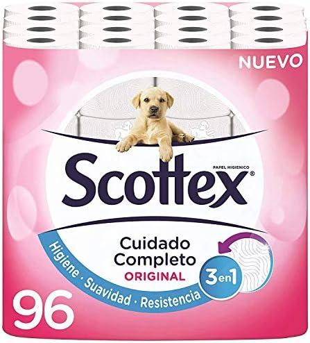 Scottex Original Papel Higiénico – 96 Rollos
