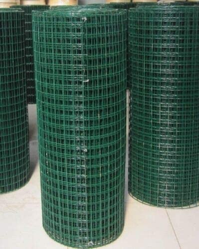Green PVC Coated Welded Mesh Fence Wire for Garden Fencing Guard Barrier 4 Sizes 1.2 x 30M