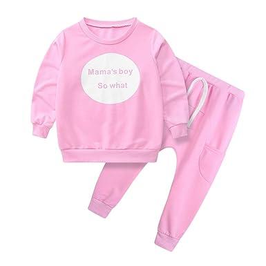 Ropa Bebe niña niño, Conjunto de Estampado de Cartas para niños Jersey para niños + pantalón harén de Dos Piezas: Amazon.es: Ropa y accesorios
