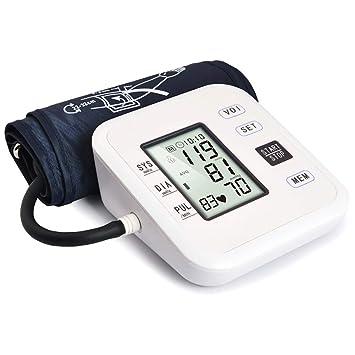 Thisiscry Esfigmomanómetro de Brazo, medidor de presión Arterial portátil y Detector de frecuencia cardíaca portátil de medición Digital Totalmente ...