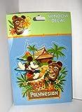 drums window decal - Disney Polynesian Resort Window Decal Tiki Dude & Mickey Mouse Drums Sticker