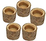WellieSTR 5 Piece Wooden Tree Branch Rustic Candle Holder Wedding Home Decor Candlesticks Lover Romantic Vindicate Candlelight Dinner Props 5.5x5.2cm