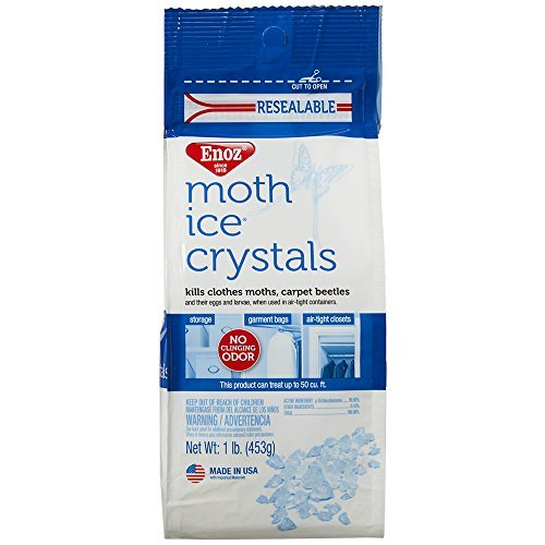 (Enoz Moth Ice Crystals - 1 lb Bag (1) Kills Clothes Moths, Carpet Beetles, and Eggs and Larvae)