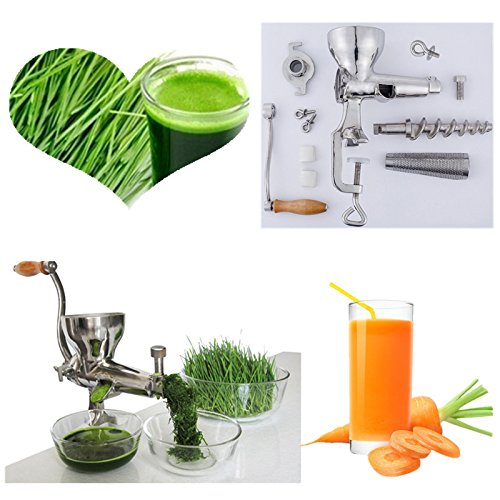 Acier inoxydable main manuel agropyre centrifugeuse presse-fruits lente de la vis d'herbe de blé de l'extracteur de jus d'orange légumes machine ZHHJ