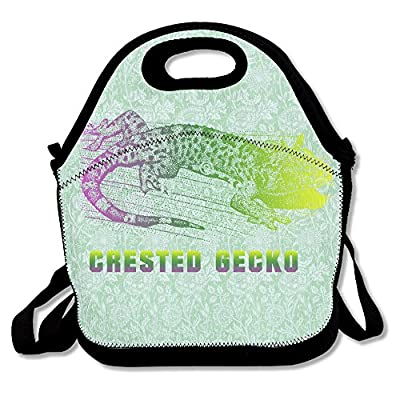 Crested Gecko Lunch Tote Insulated Reusable Picnic Lunch Bags Boxes For Men Women Adults Kids Toddler Nurses