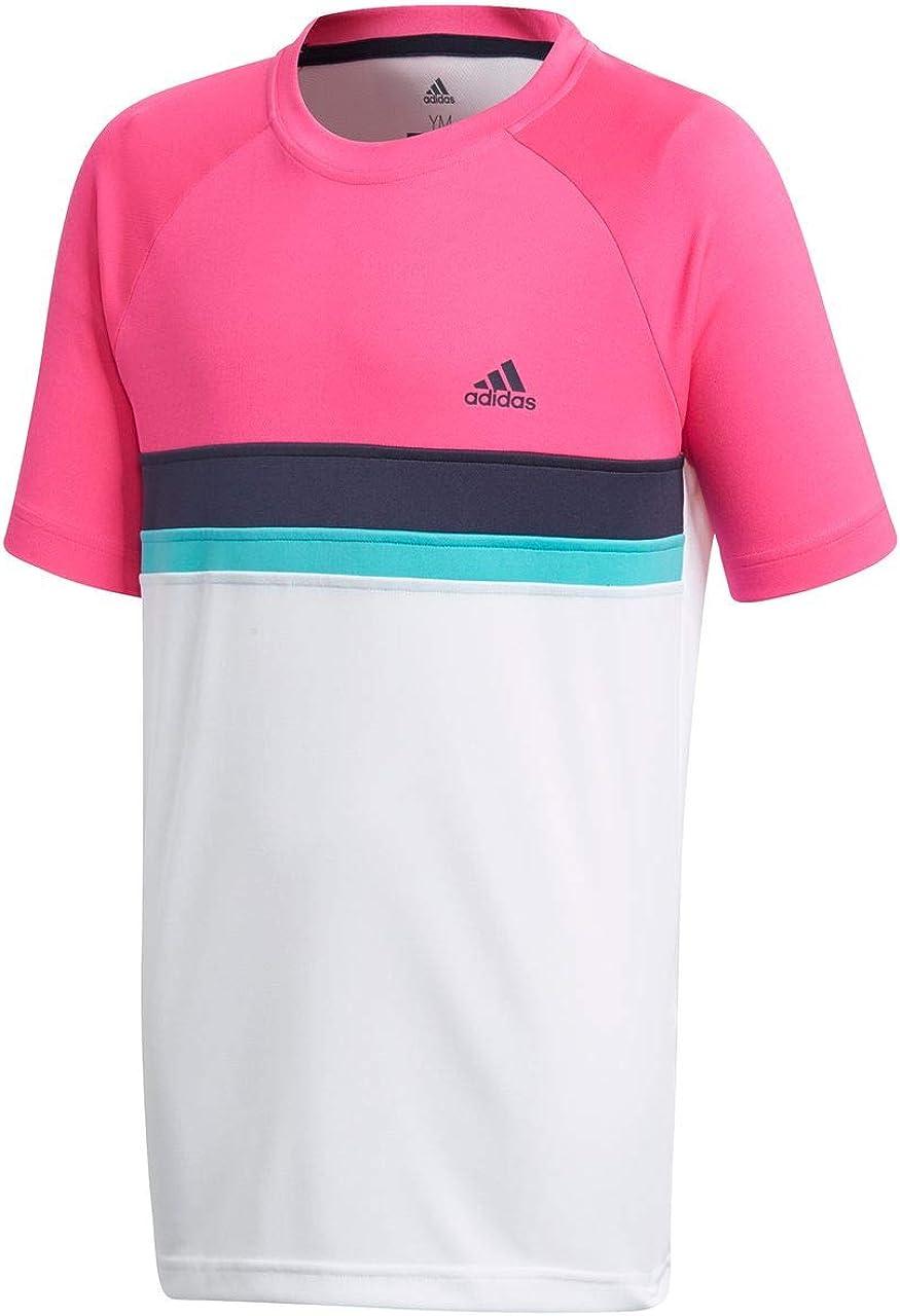 adidas Colorblock Club - Partes de Arriba de Ropa Deportiva para Tenis (Camiseta, Azul, Rosa, Violeta, Blanco, Masculino, Baby (Height), Monótono