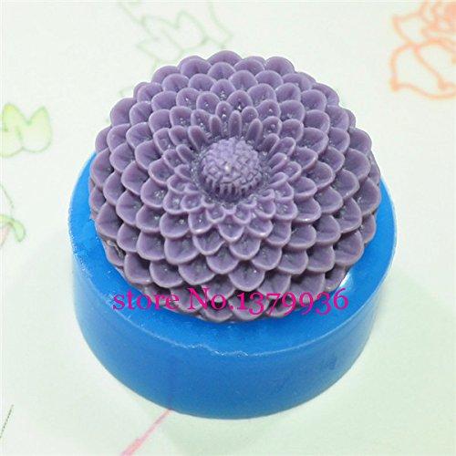 Generic Flor/Pom Pom crisantemo molde de silicona para accesorios ...