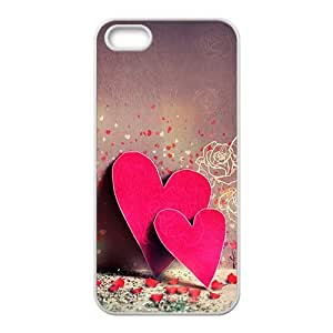 Pink artistic love hearts Phone Case for iPhone 5S(TPU)
