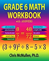 Grade 6 Math Workbook with Answers Front Cover