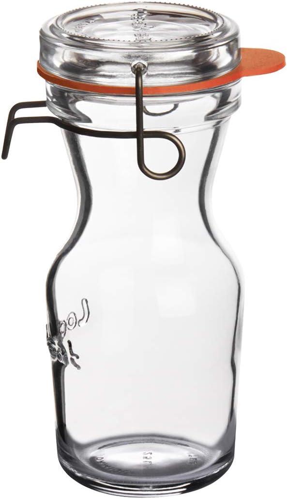 Luigi Bormioli Lock-Eat 8.5 oz Juice Jars, Single, Clear