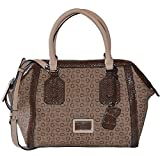 GUESS Signature Truthfulness Satchel Tote Crossbody Bag Handbag Purse In Brown