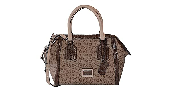 Amazon.com: GUESS Signature Truthfulness Satchel Tote Crossbody Bag Handbag Purse In Brown: Shoes