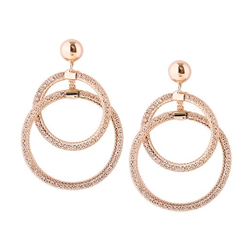 Plug Cross Wholesale Ear Large Geometric Women Fashion Handmade Fashion Wholesale Circle Street Alloy Gold Of Accessories With TAwYpqX